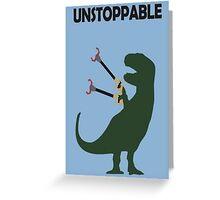 t-rex, dinosaur Greeting Card