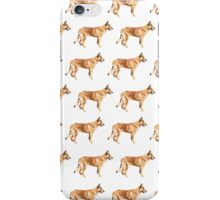Spring Green Collie White Pattern iPhone Case/Skin
