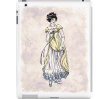 Lady Cecilia Fifield - Regency Fashion Illustration iPad Case/Skin