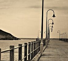Lonely Pier by wallarooimages