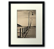 Lonely Pier Framed Print