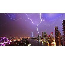 Multiple Exposure   Lightning III Photographic Print