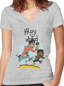 Troy + Abed Women's Fitted V-Neck T-Shirt