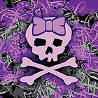 Purple Girly Skull by Roseanne Jones