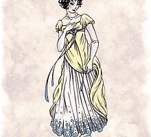 Lady Cecilia Fifield - Regency Fashion Illustration by Shakoriel