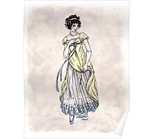Lady Cecilia Fifield - Regency Fashion Illustration Poster