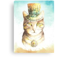 watercolor steampunk cat  Canvas Print