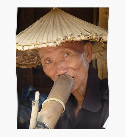 Wizened face, Chiang Mai, Thailand Poster