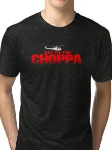 GET TO THE CHOPPA - Predator Parody  Tri-blend T-Shirt