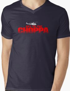 GET TO THE CHOPPA - Predator Parody  Mens V-Neck T-Shirt
