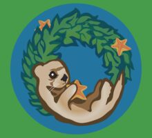 Otter Holiday Wreath Kids Clothes