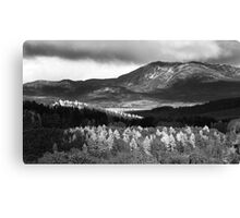 Pitlochry - Tapestry of Light and B&W Canvas Print