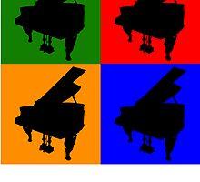 Piano Pop Art by kwg2200
