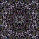 Kaleidoscope glowing grass by Avril Harris