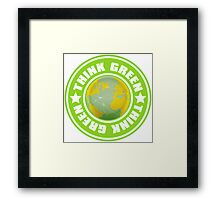 Think_Green Framed Print