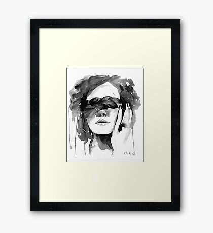 Girl with the Plait in Her Hair Framed Print