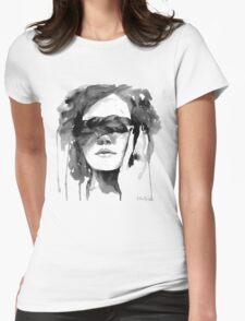 Girl with the Plait in Her Hair Womens Fitted T-Shirt