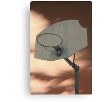 Shooting hoops on Mars Canvas Print