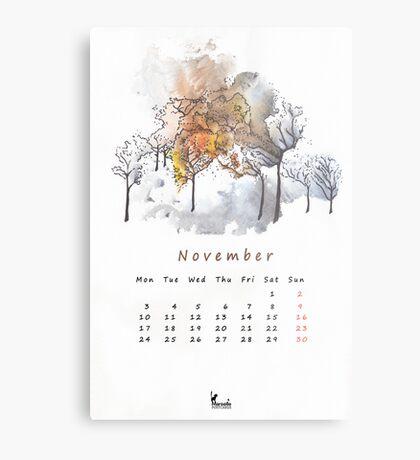 November Metal Print