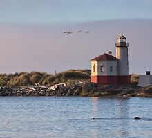 Coquille River Lighthouse by Carrie Cole