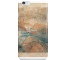 John Ruskin  Rocks in Unrest  iPhone Case/Skin