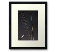 Lines of Light Framed Print