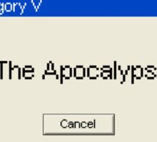 The Apocalypse - Cancel? Sticker
