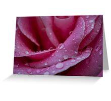 Fallen Raindrops form a Star Greeting Card