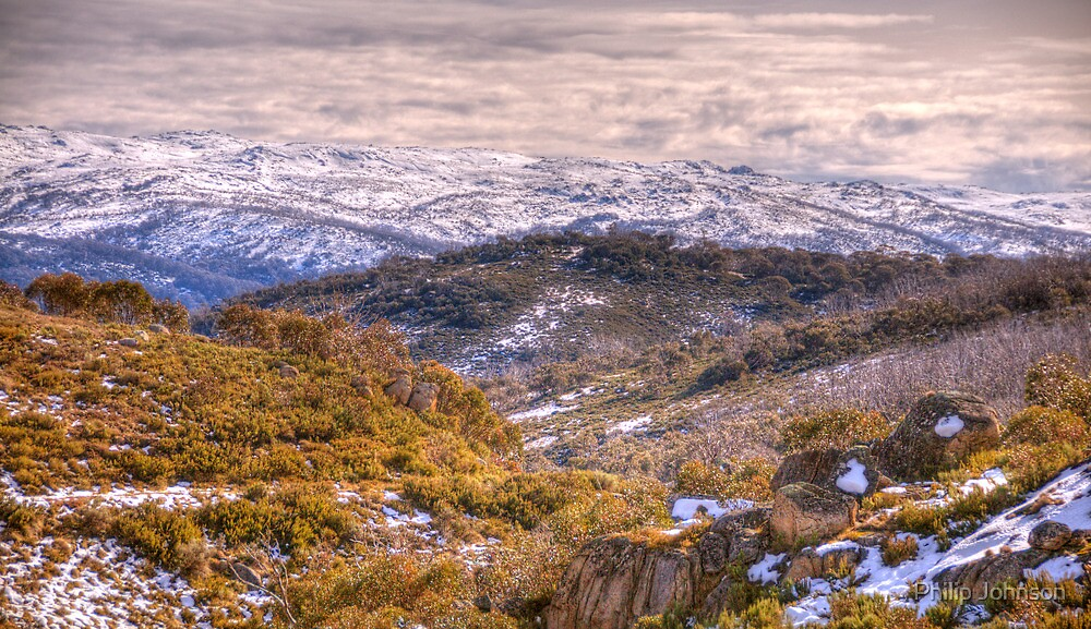 Snow Line - Charlottes Pass - Snowy Mountains National Park - The HDR Experience by Philip Johnson