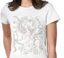 goldfinch and the moon Womens Fitted T-Shirt