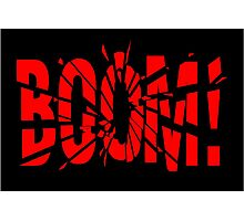 Cartoon BOOM by Chillee Wilson Photographic Print