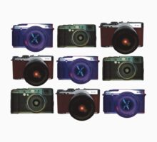 Fuji cameras play noughts and crosses by trishie