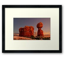 Balanced Rock at sunset Framed Print