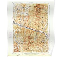 USGS Topo Map  Vermont VT Camels Hump 337902 1924 62500 Poster