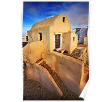 On top of Pyrgos village, Santorini island Poster