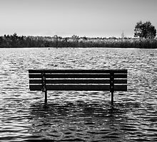 Park Bench in Water by dioptrewho