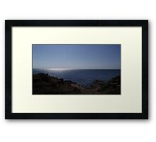 Cliff Side Seascape Framed Print