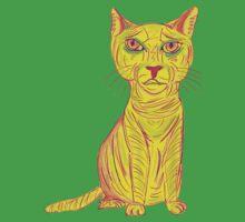 Annoyed and Grumpy Yellow Cat by ibadishi