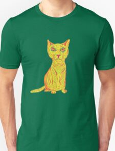 Annoyed and Grumpy Yellow Cat T-Shirt
