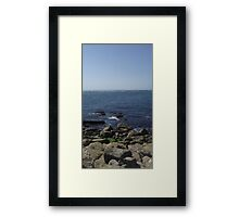 Edge of the sea Framed Print