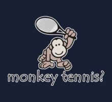 Monkey Tennis? Kids Tee