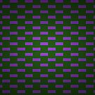 Dark square pattern purple green by donnagrayson