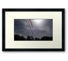 Red Arrows - Eight Framed Print
