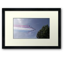 Red Arrows - Ten Framed Print