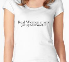 Real women ... black Women's Fitted Scoop T-Shirt