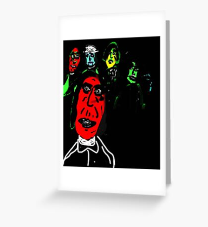 Psych Mob Greeting Card