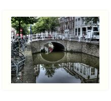 ...old Delft in Holland... Art Print