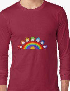 Little Cute Rainbow Birds Long Sleeve T-Shirt