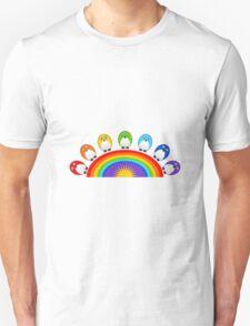 Little Cute Rainbow Birds Unisex T-Shirt