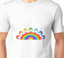 Little Cute Rainbow Birds Unisex T-Shirt